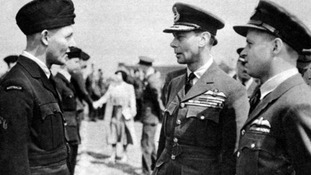 The King and Queen meet allied airmen who breached the Mohne and Eder Dams