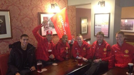 Rio Ferdinand tweeted this picture ahead of tonight's victory parade.