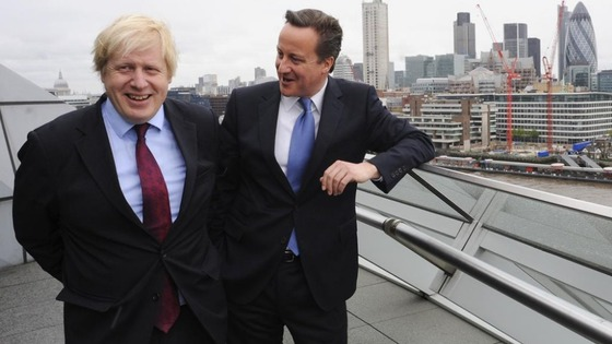Boris Johnson with David Cameron 