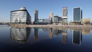 BBC buildings at Media City UK in Salford