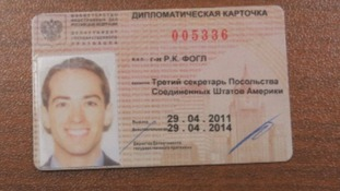 Claims to show an ID card belonging to Ryan Fogle
