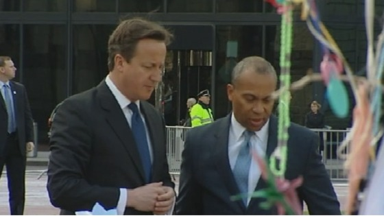 David Cameron and  Deval Patrick.