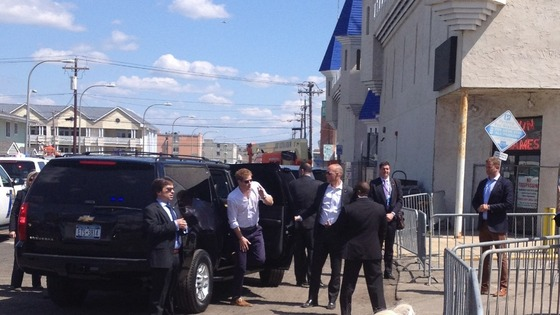 Prince Harry steps out of his car at Jersey Shore in New Jersey, US