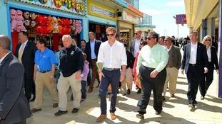 Prince Harry on the Pier at Seaside Heights, New Jersey