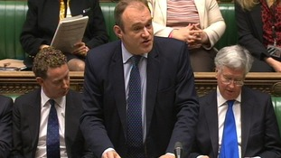 Energy and Climate Change Secretary Ed Davey giving a statement in the House of Commons on petrol pricing.