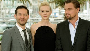 Tobey Maguire with Carey Mulligan and Leonardo Di Caprio