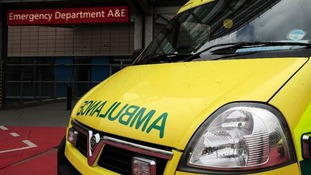File photo of an ambulance outside the entrance to a hospital Accident & Emergency.