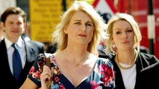 Sally Bercow arrives at the High Court.