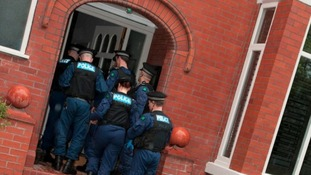 One of the properties raided