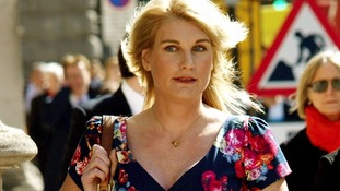 Sally Bercow arriving at the High Court.