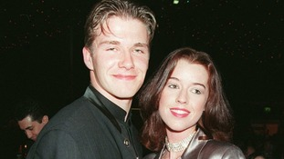 Not just different hair: David Beckham and then-girlfriend Julie Killilea in 1996.