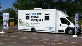 NHS dental bus