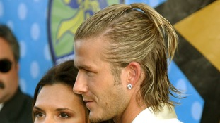 David's longer locks in 2003 needed not just one, but two ponytails.