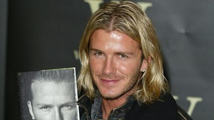 Becks unleashes his flowing locks in 2003.
