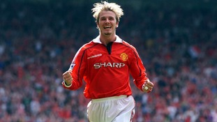 Beckham starred in United's historic 1999 treble-winning campaign