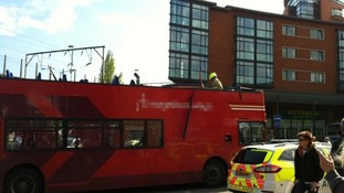 Top of bus torn off after bus crashed into bridge in Chelmsford