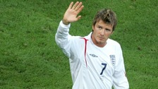 Beckham played in three successive World Cups for England