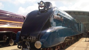 The restored 1937 steam train, Dominion of Canada.