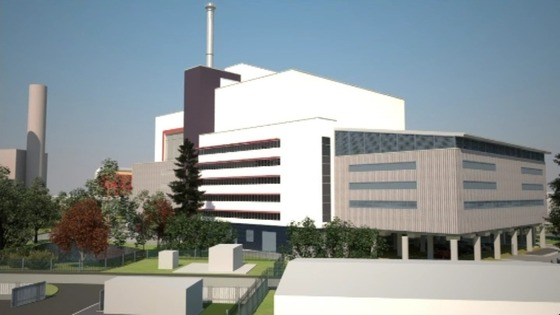 Artist Impression of incinerator at King's Lynn in West Norfolk