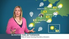 Friday&#x27;s forecast: Sunshine, but risk of thundery showers