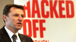 Madeleine McCann's father, Dr Gerry McCann at the Leveson Inquiry
