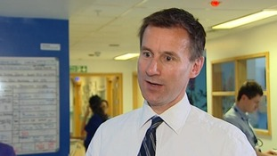 Jeremy Hunt at Kings College Hospital, London