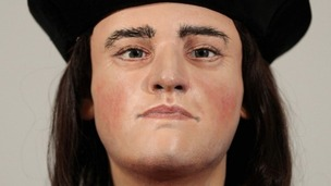 A facial reconstruction of King Richard III will go on display from today.