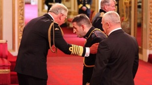 'Cheers mate'! Lance Bombardier Ben Parkinson receives MBE