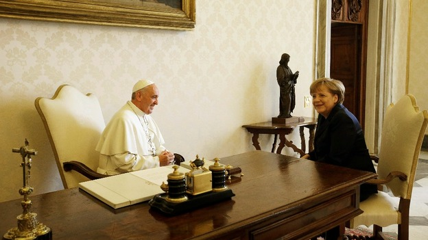 The German Chancellor attended a private audience with the Pope