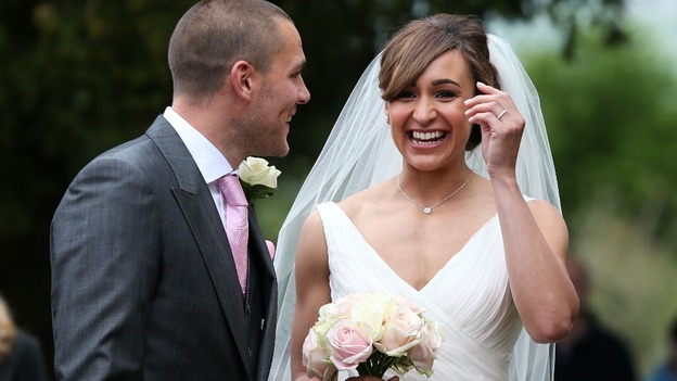 Jessica Ennis and Andy Hill share a joke after the ceremony