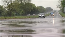 Surface flooding across the North East 