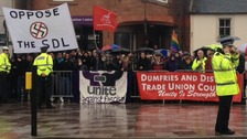 Protests in Dumfries