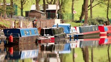 Boats on the Leeds Liverpool Canal at Chorley