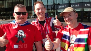 Bonnie Tyler fans first to arrive at Eurovision Song Contest final in Sweden