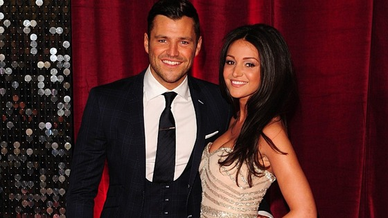 Coronation Street actress Michelle Keegan arrives with her beau, former TOWIE star Mark Wright.