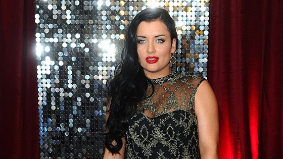 Shona McGarty, who plays Whitney Dean in Eastenders, shines on the red carpet.