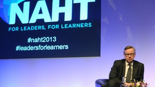 Education Secretary Michael Gove at the National Association of Head Teachers' conference.