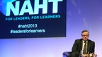 Education Secretary Michael Gove at the National Association of Head Teachers&#x27; conference.