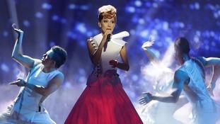 Singer Aliona Moon representing Moldova.