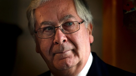 The outgoing governor of the Bank of England Sir Mervyn King.