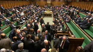 MPs prepare to vote on an amendment the the Queen's Speech on May 15