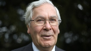 Sir Mervyn King the outgoing governor of the Bank of England