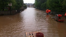 Cumbrian town flooded after heavy rainfall