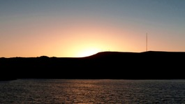Yarrow Reservoir, Lancashire at sunset.