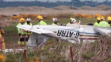 Father killed, granddad and grandson hurt in plane crash