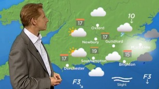 Simon with the weather
