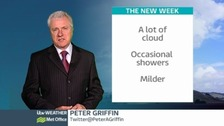 Watch the latest weather forecast with Peter Griffin