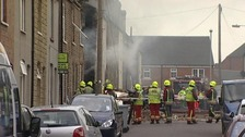 Two people still trapped after Newark gas explosion