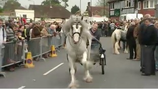 Horse and cart at Wickham