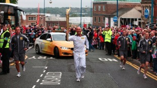 Stoke-on-Trent spent the most on hosting the Olympic Torch in the Midlands